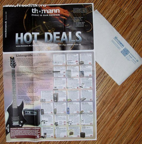 copy of our current Thomann Hot Deals catalogue / thomann